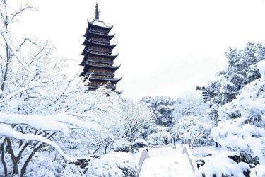 常熟-雪中方塔